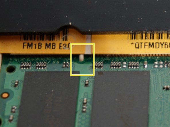 Make sure that pins line up correctly and memory is all the way in place.