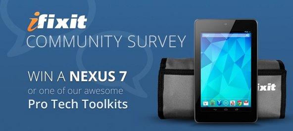 iFixit community survey banner