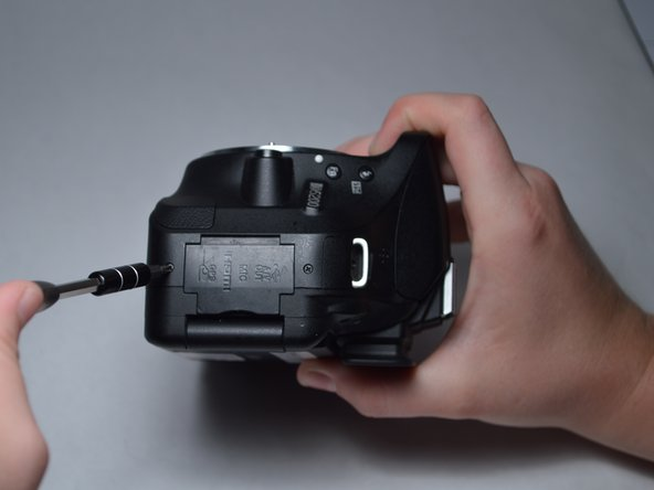 Remove the 7-mm screws from either side of the camera.