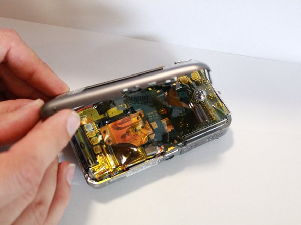 Completely remove the back casing from the device.
