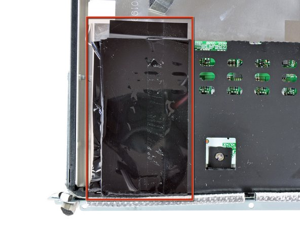 Remove the large piece of black tape covering the side of the inverter board.