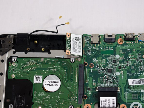Slide the card out of the motherboard and replace it with the new one.