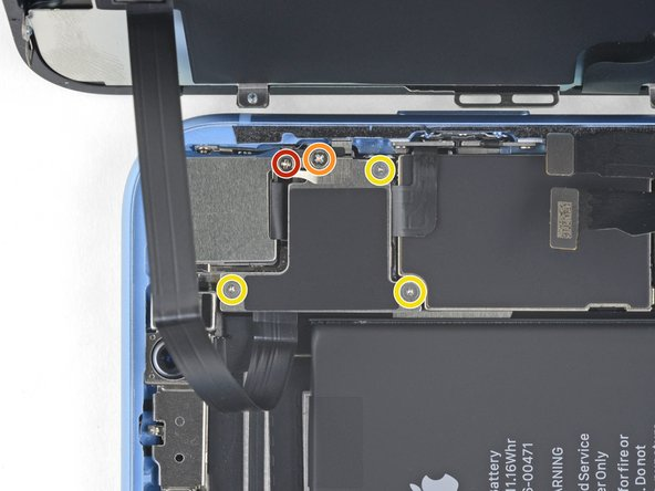Remove the five screws securing the logic board connector bracket to the rear case: