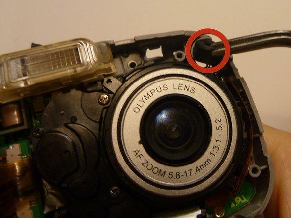 Image 1/3: Locate speaker in upper right hand corner.