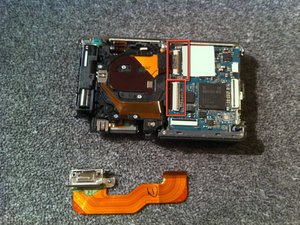 Disassembling Sony Cyber-shot DSC-W230 Removing the Camera Sensor