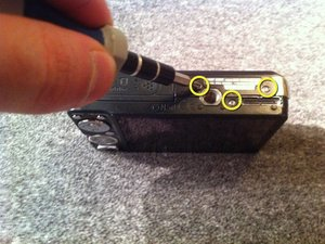 Disassembling Sony Cyber-shot DSC-W230 Exterior Case