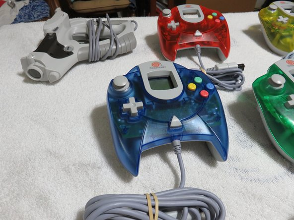 My Sega Dreamcast (North America) Refurbished Controller Collection and Pelican Gun.