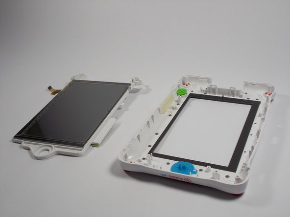 Remove the screen from the front casing