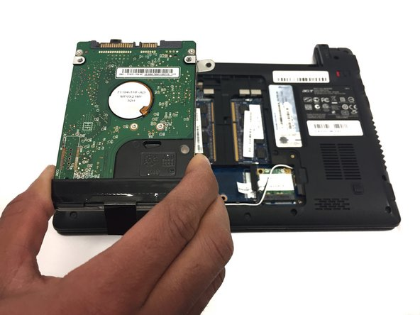 The hard drive can now be removed from the device.