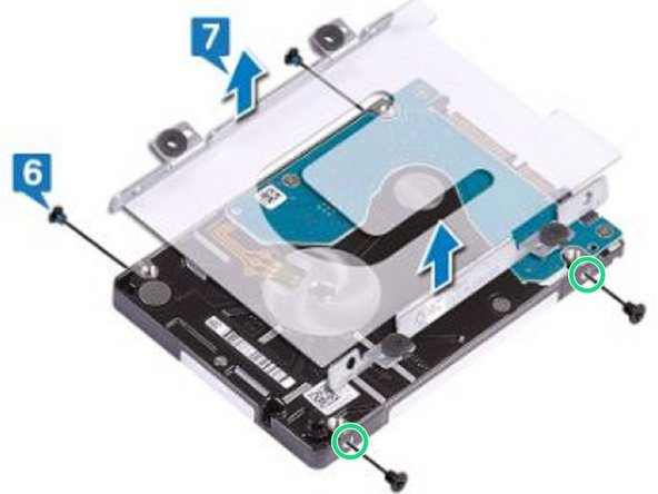 Align the screw holes on the hard-drive assembly with the screw holes on the computer base.