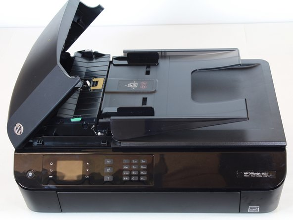 Lift the fax feeder cover until it stands on its own.