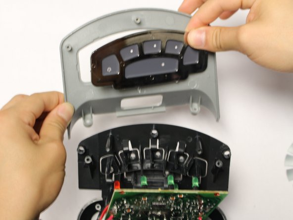 The power button panel comes off as a whole unit. Replace as needed.