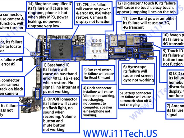purchase cheap a3723 d3e6c iPhone 7 Logic Board Map - iFixit Repair Guide