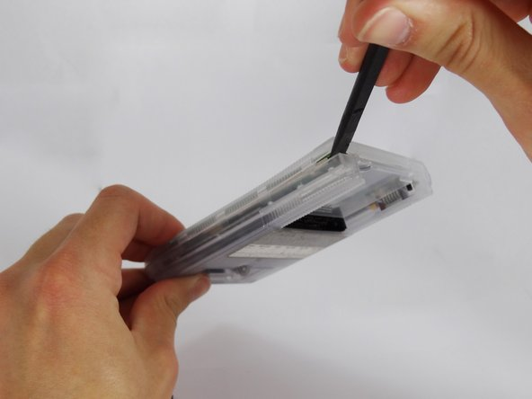 Image 2/3: Be careful while opening the casing as there is a flex strip connecting the two halves.