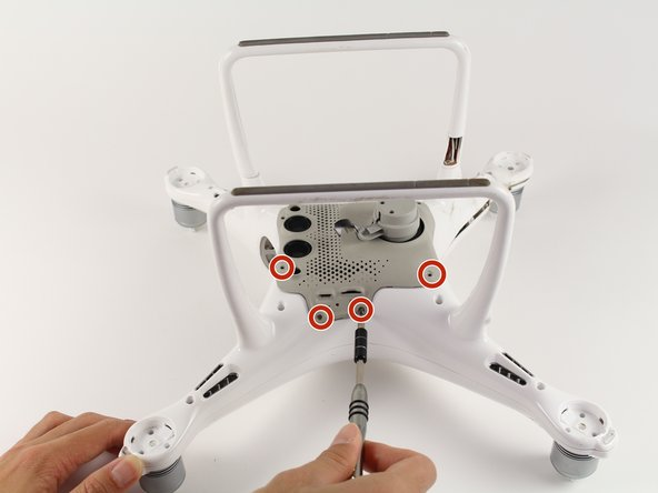 Flip the drone on its back