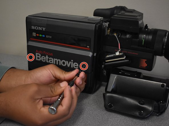 Sony Betamovie BMC-220 Cassette Compartment Replacement