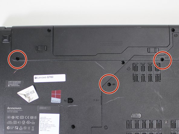 Remove the three 9mm keyboard screws with a #0 Phillips screwdriver.
