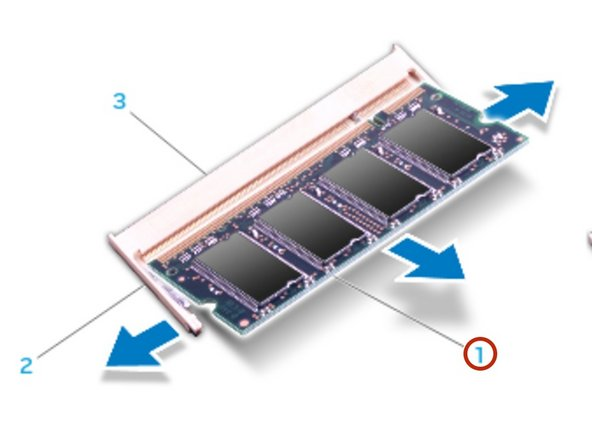 Insert the module into the memory module connector at a 45-degree angle, and press the module down until it clicks into place. If you do not hear the  click, remove the module and reinstall it.