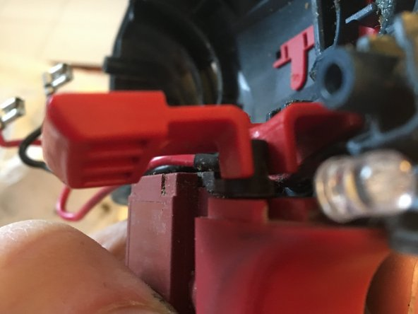 Picture 1: closeup of the forward, revers, and lockout assembly.