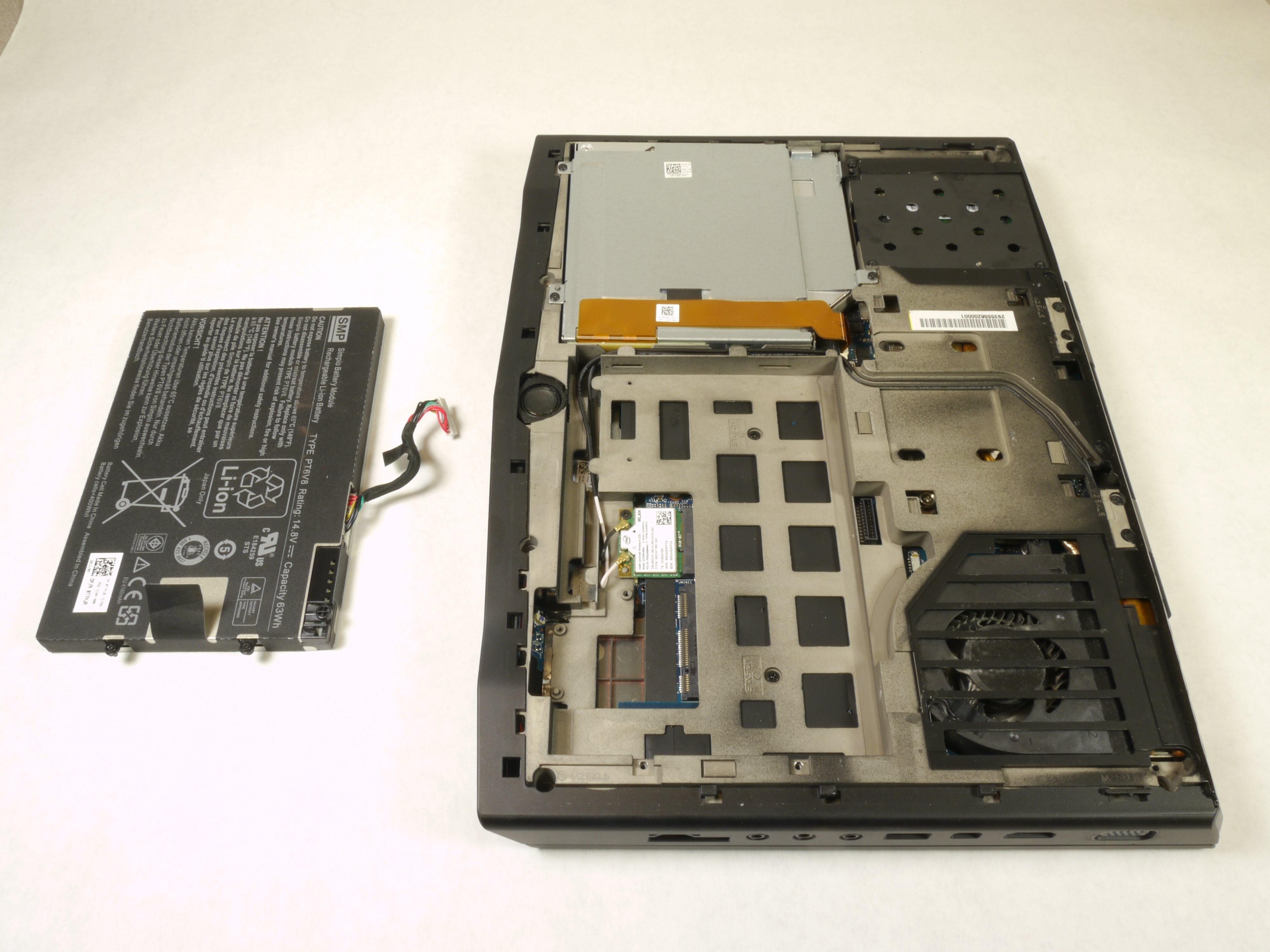 Alienware M14xr2 Battery Replacement