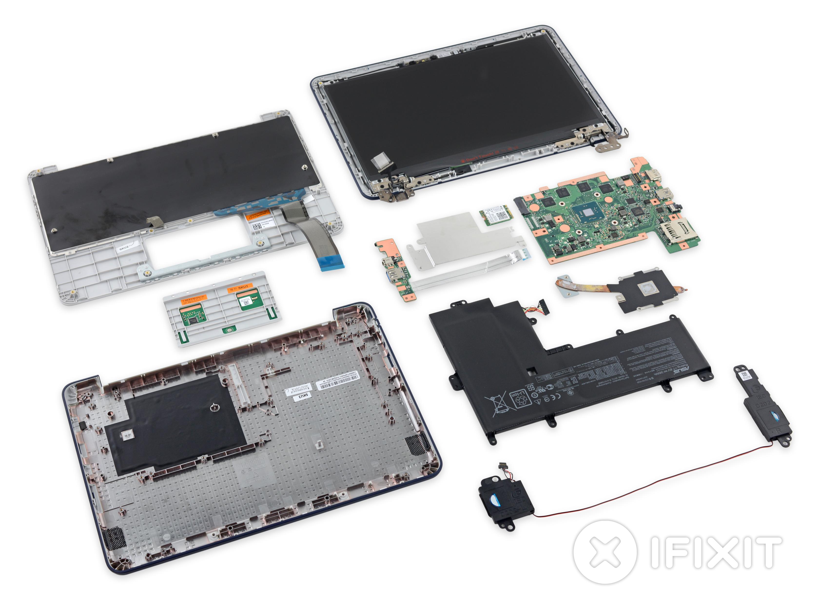 Asus Chromebook C202 Teardown Ifixit Frame Keybord Laptop X 455 Casing