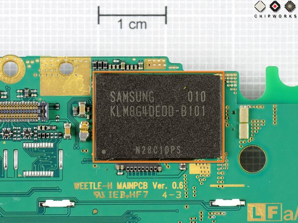 Samsung's moviNAND chip supplies the 8GB of storage space for the Kin.