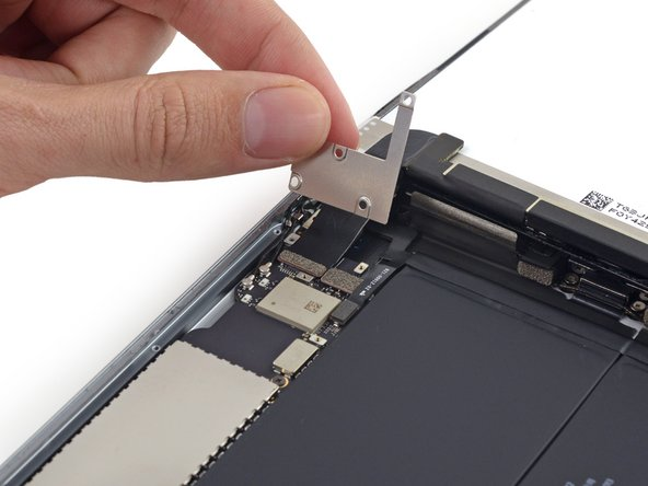 Remove the display cable bracket from the iPad.
