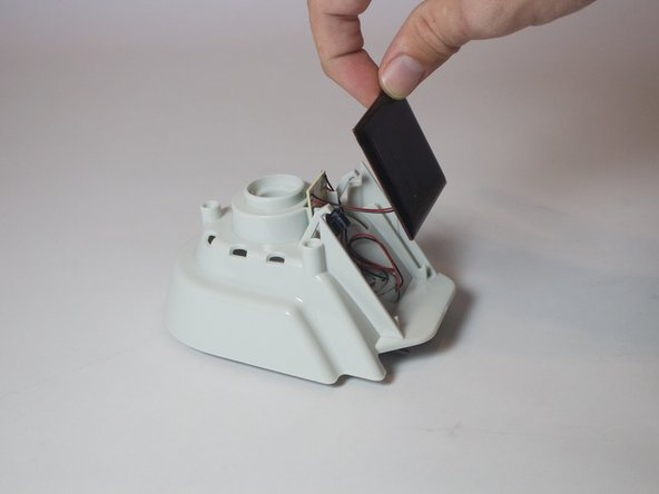 Image 1/2: Pulling on the panel too hard may damage to the electronic components inside.