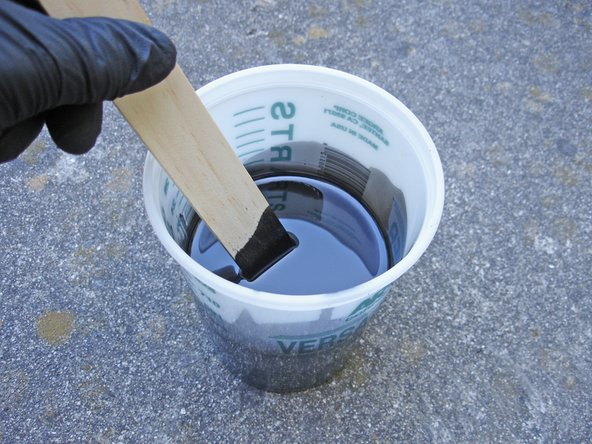Make a mixture of 50% Rustoleum paint, and 50% mineral spirits. The paint will be very, very thin.
