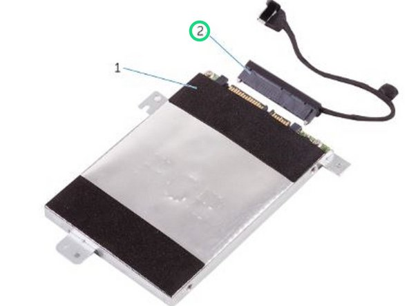Disconnect the interposer from the hard-drive assembly.