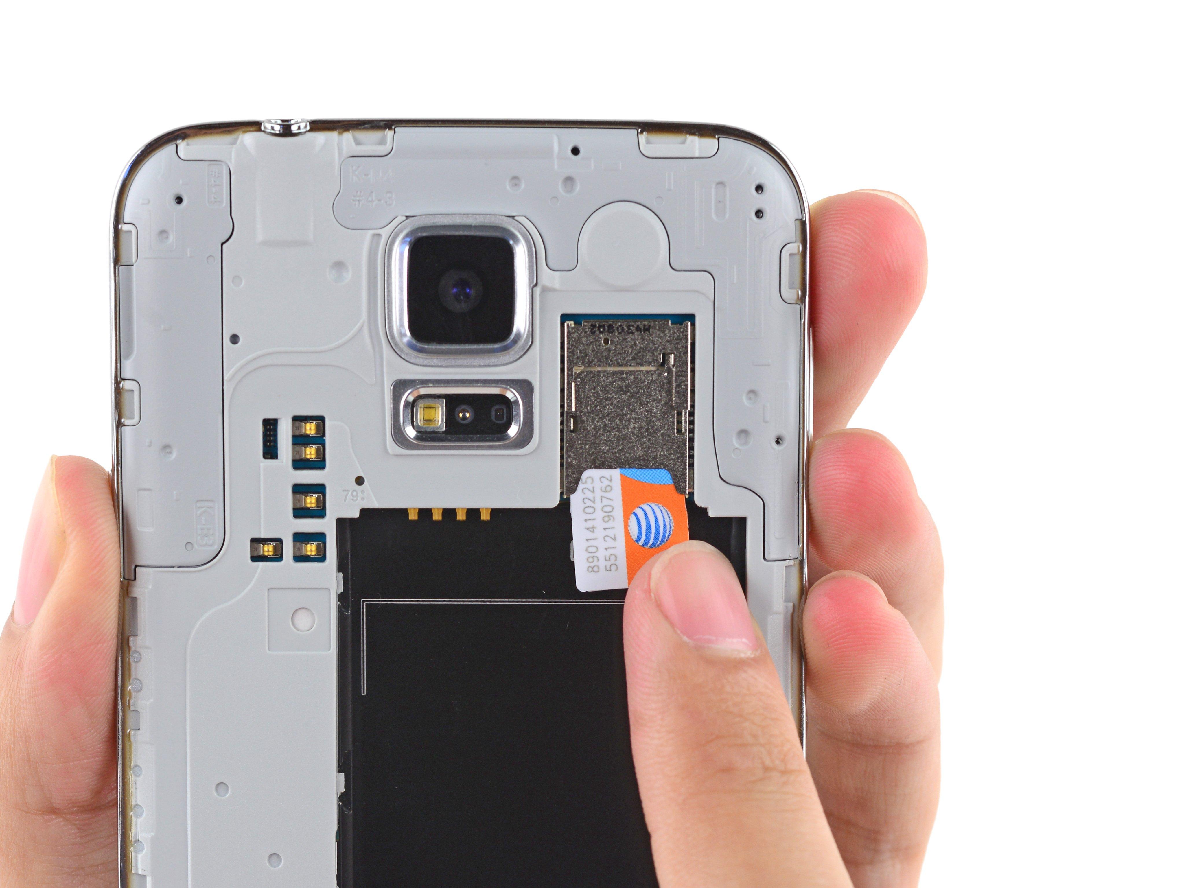 galaxy s5 sim karte Samsung Galaxy S5 SIM Karte ersetzen   iFixit Reparaturanleitung