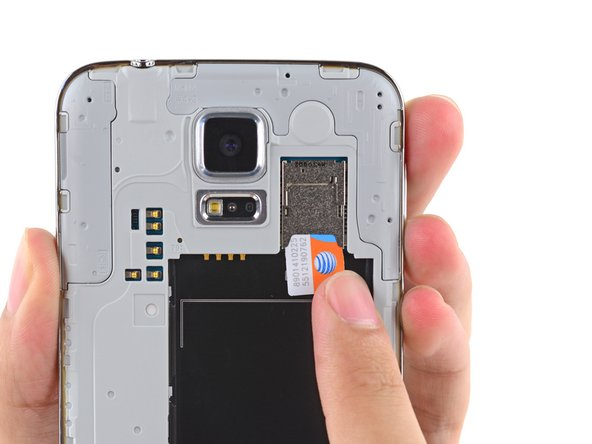 Samsung Galaxy S5 SIM Card Replacement