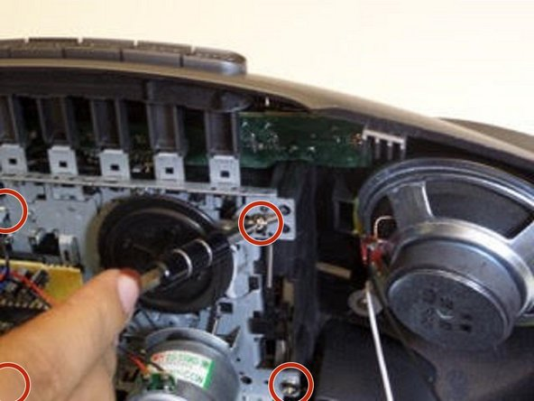 To remove the cassette unit, use a 2.5mm flathead on the 4 screws holding the unit together.
