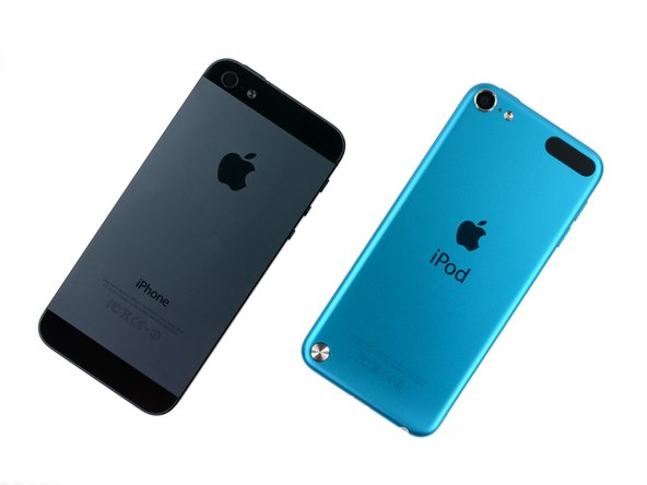 Image 1/3: The new iPod Touch shares the same height (within a ± .01 inch difference) as the iPhone 5.
