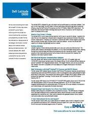 D600 Spec Sheet