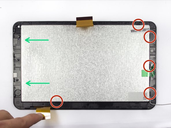 Gently slide the digitizer from its clasps to remove it from the screen.