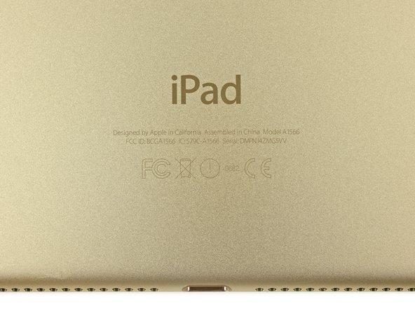 iPad Air 2 – первый с номером модели вида A15xx. Наш iPad Air 2 Wi-Fi имеет номер A1566.