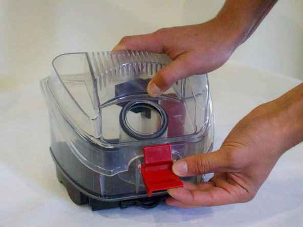 To clean Dirt Collection Box, unlatch lid and take off.