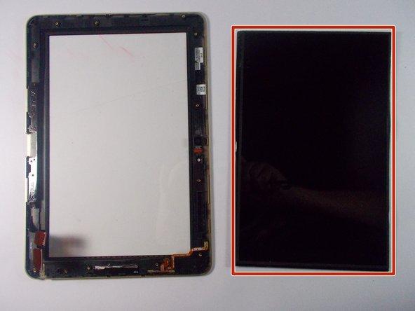 Replace display screen.