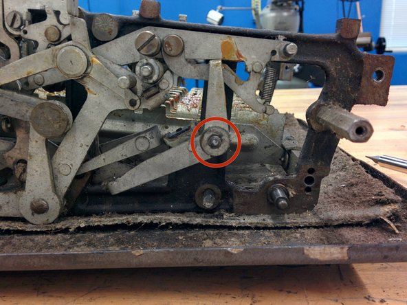 """Again, remove retaining wire, washer (1/2"""" o.d.) and lever."""