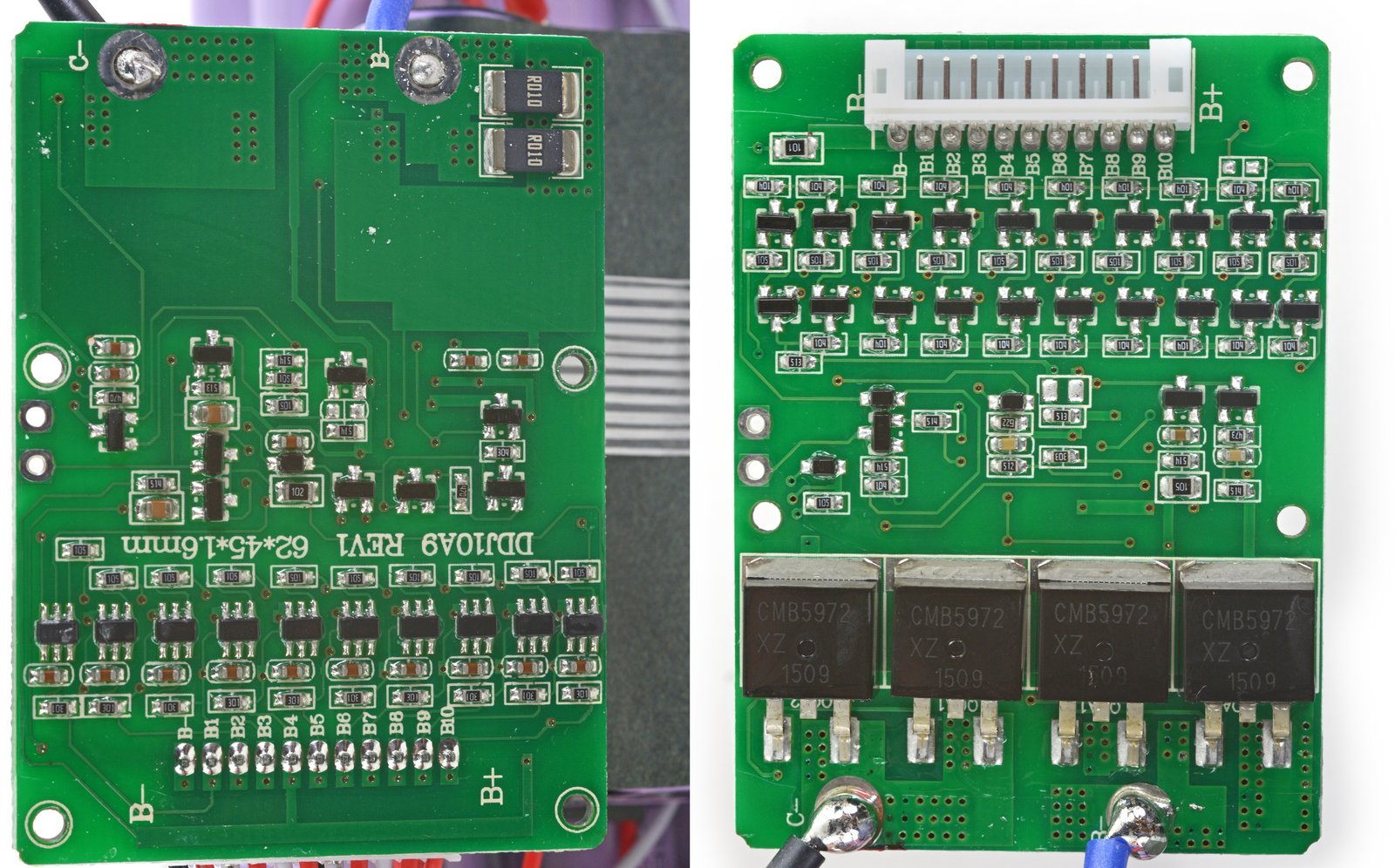Swagboard Teardown What Makes A Safe Hoverboard Ifixit Rechargeable Lithiumion Batteries With Protection Circuit Board Pcb Li Ion Should Never Be Fully Discharged So Its Likely That The Battery Prevents Cells From Discharging Their Full Capacity