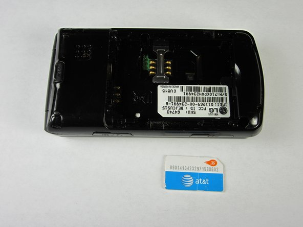 LG CU515 SIM Card Replacement