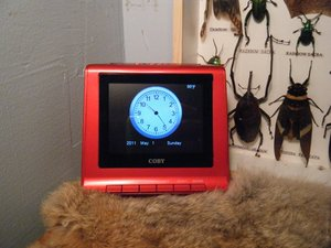 Coby Digital Photo Frame Alarm Clock Teardown
