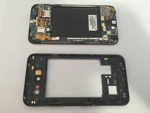The inner cover is now removed, you now have access to the many parts on the inside of the phone.