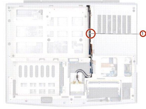 Alienware M11xR2 Reemplazo del Ensamblaje de la Pantalla