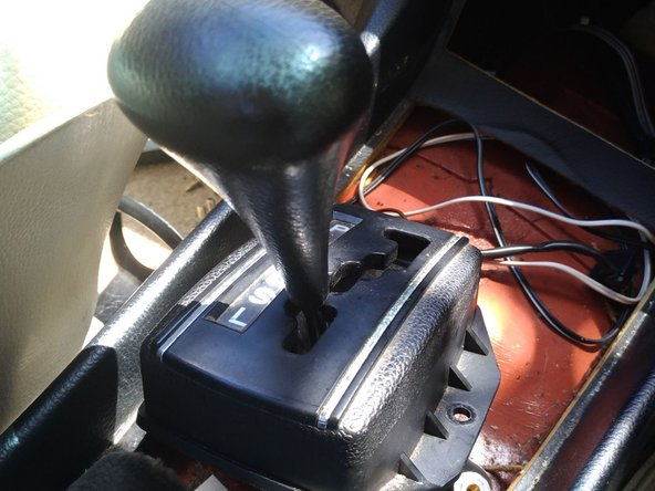 Now you can unscrew the shift lever/knob