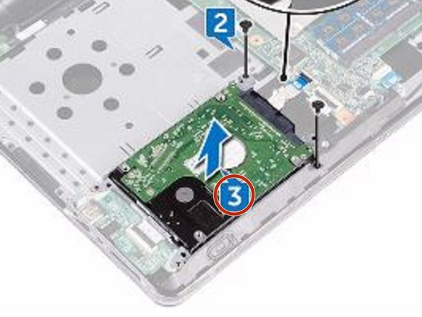 Lift the hard-drive assembly off the hard-drive bracket.