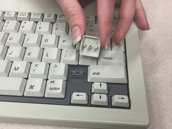 If you wish to remove another key besides the spacebar, the same methods of removal apply.