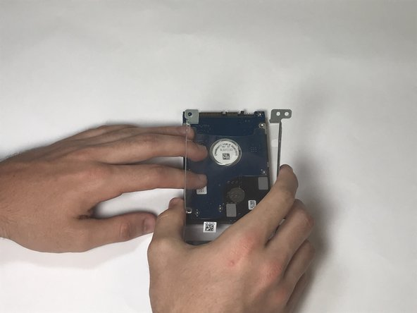 Safely remove the hard drive assembly from the hard drive to complete the process.