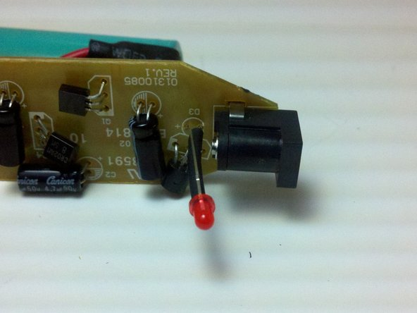 Remove the LED from the circuit board while the solder is still melted.